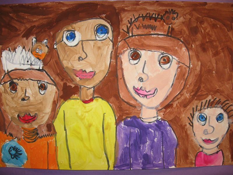 1st grade family portraits 006