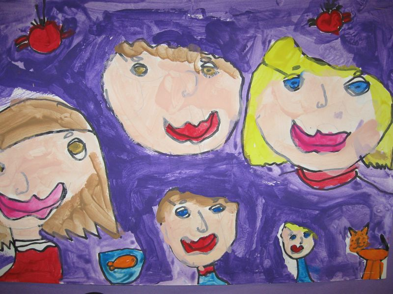 1st grade family portraits 005