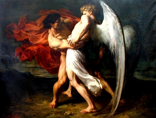 Alexandre-louis-leloir-jacob-wrestling-with-the-angel-1865